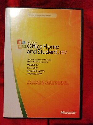 Microsoft Office Home And Student 2007 New And Sealed