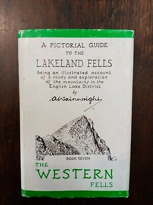 A PICTORIAL GUIDE TO THE LAKELAND FELLS BOOK 7 THE WESTERN FELLS HARDBACK blue