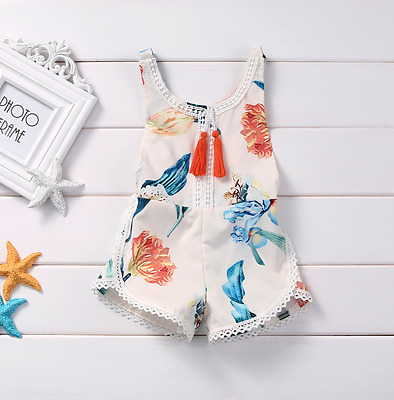 Brand New Gorg Baby Girls Lily Flower Jumpsuit Summer Ready Outfit Set Clothing