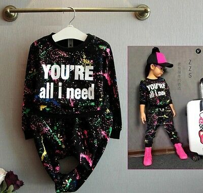Brand New Girls 'You're All I Need' Tracksuit Hip Hop Clothing Kids Designer