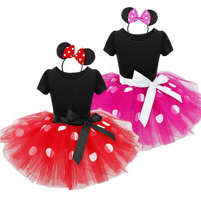 Minnie Mouse Girls Party Tutu Costume Fancy Dress Set Outfit Clothing