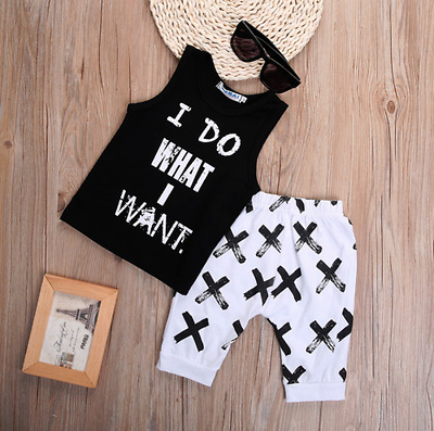 Brand New Boys I Do What I Want 2 Piece Outfit Set 6m- 3yrs FREE POSTAGE