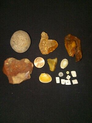 15pc Paleo Stone Tools NATIVE AMERICAN Indian Artifacts Collection ball bead lot