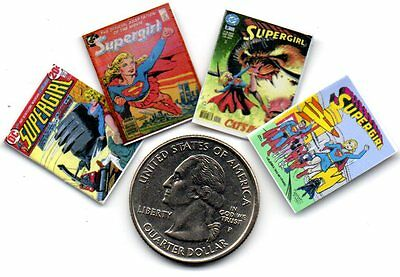 Dollshouse 1:12 scale OPENING PAGES 4 Miniature  /'SUPERGIRL/'   Comics