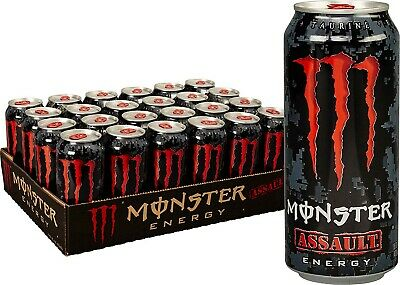 Monster Energy Assault, Energy Drink, 16 Ounce (Pack of 24), Free Shipping, New