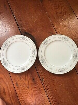 """Lot of 2 Plates FINE CHINA OF JAPAN DIANE 10 3/8"""" Porcelain Dinner Plate ~ GUC!"""