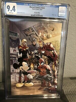 Marvel Comics #1000 Cgc 9.4 D23 Expo Ramos Mickey Mouse Cover Variant (2019)