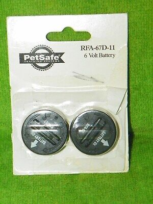 PetSafe RFA-67D-11 Wireless Fence Receiver Collar 6V Replacement Battery 2 Pack