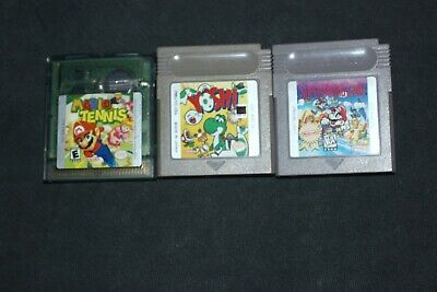 Nintendo Gameboy/GB Color Lot Of 3 Pre-owned Games - Mario Tennis/Land, Yoshi++