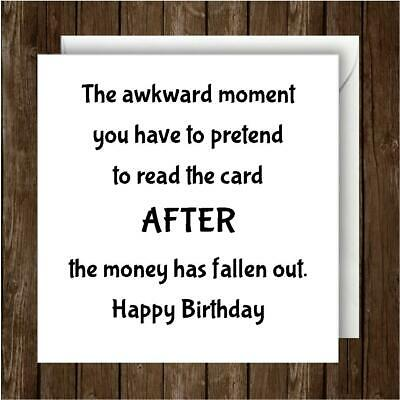 Funny Humour EllieBeanPrints Birthday Card Four Out Of Five People Get Money