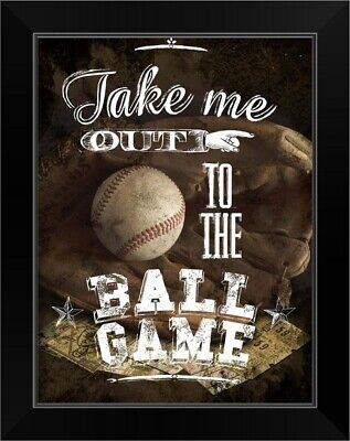 Art Print Framed or Plaque By Marla Rae MA847A Take Me Out To The Ball Game