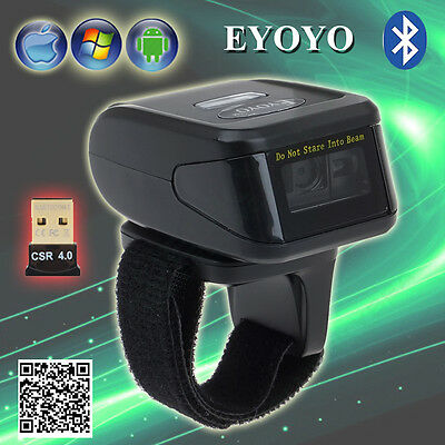 Wireless Bluetooth 2D Barcode Scanner Reader For Apple IOS Android Win 7/8/10 AU