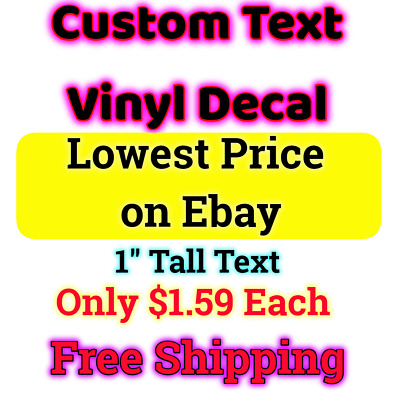 Custom text Personalized Vinyl Decal Lettering Window Car Wall Name Sticker