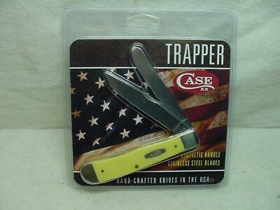CASE XX Knife Trapper Yellow Synthetic Handle Stainless Steel Blade USA