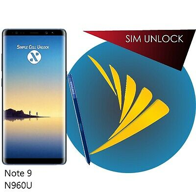 INSTANT Samsung Galaxy Note 9 Sprint/AT&T/TMO Remote Unlock Service