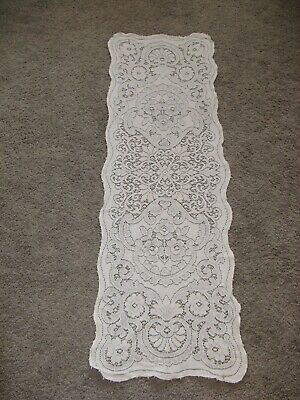 LOT of 5 VTG Cotton Floral LACE Tablecloths Cutters for Crafts + Dresser Scarf