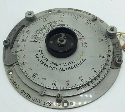 Airplane Calibrated Altimeter Set And Read Airspeed Computor Mark II Betta Enfld