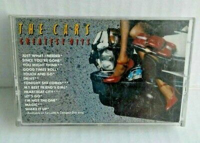 THE CARS Greatest Hits Cassette Tape 1985 Classic Rock