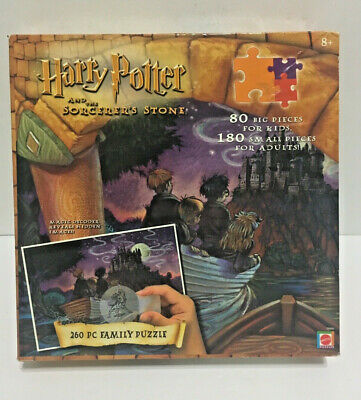 Harry Potter And The Sorcerer's Stone Family Puzzle 260 pc Magic Decoder SEALED