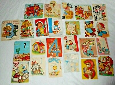 Vintage Lot of 24 - 1950's Cards. (used)