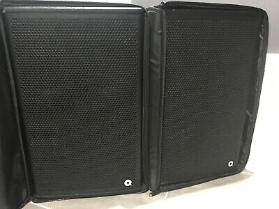 2 X QUEST QM450A active speakers stage monitors with covers