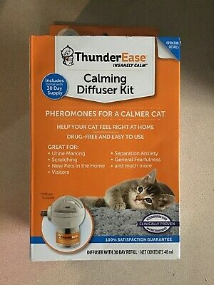 ThunderEase Cat Calming Pheromone Diffuser Kit - Reduce Scratching #4180