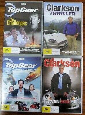 Top Gear, Clarkson DVD,s Set of 4 Titles in great Condition Region 4