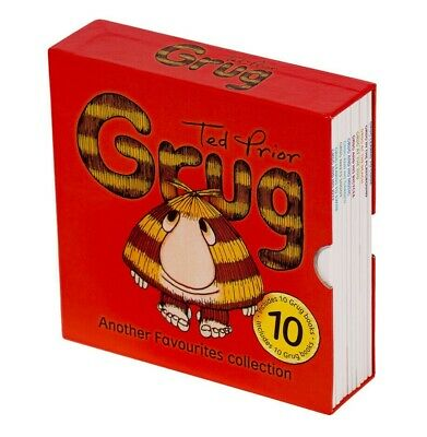 NEW Grug Another Favourites 10 Books Collection Ted Prior Kids Library Gift Set!