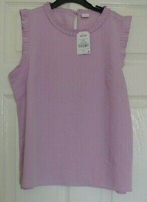 New Next  girls lined Blouse/top Lilac  16 years