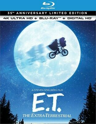 E.t. The Extra Terrestrial 4K Ultra Hd Blu Ray Limited Edition 35Th Anniversary