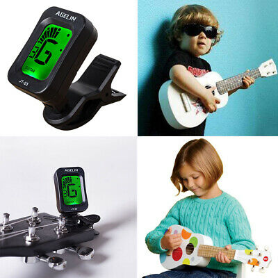 Tiger Clip On Chromatic Guitar Tuner - Electric, Acoustic, Bass & Ukulele Gifts