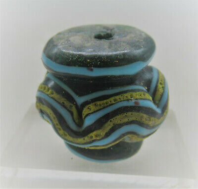 Ancient Phoenician Mosaic Glass Bead Pendant