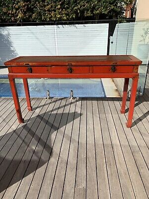 Antique Red Chinese Console, Period 1800s