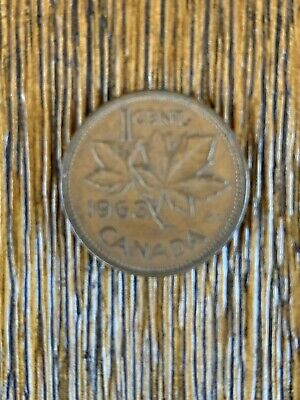 Beautiful 1963 Canadian 1 Cent Coin 56 Years Old Twenty Five Cent Piece #7730