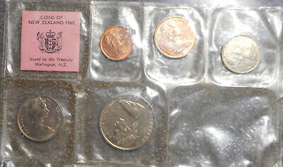 New Zealand 1968 UNcirculated Mint set to 50 cent  (6)