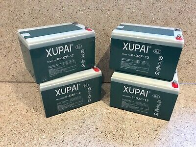 2x 12V Battery 12ah amp Mobility Scooter xupai 6-dzf-12 long life