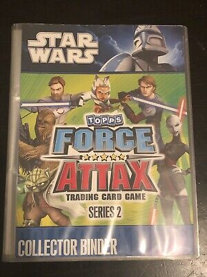 50 x Topps Star Wars The Force Attax Series 2 Trading Cards in Album Folder Rare