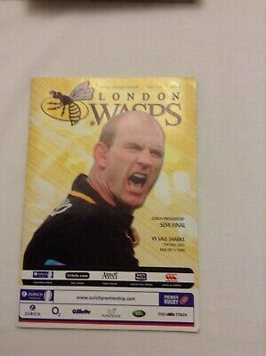 Rugby Union Wasps V Sale Sharks In Premiership Semi Final 7/5/2005