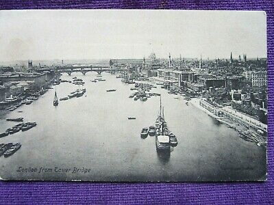 Old Postcard Of London And The Thames River Circa 1909