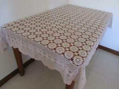 Lovely Vintage CROCHET TABLECLOTH we