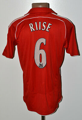 Liverpool England 2006/2007 Home Football Shirt Jersey Adidas Riise #6 Size M