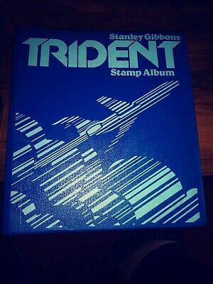 Stanley Gibbons Trident Stamp Album Lots Of Old Stamps