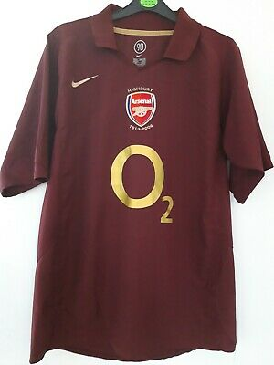 ARSENAL VINTAGE LAST HIGHBURY HOME SHIRT 2005/06 MENS medium ADULTS. Redcurrent