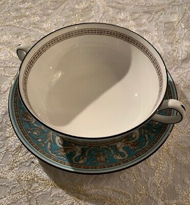 Wedgwood FLORENTINE TURQUOISE Cream Soup / Bouillon Cup Bowl (s) W 2614