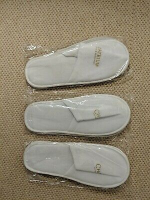 9 Pairs of White Hotel / Spa Slippers