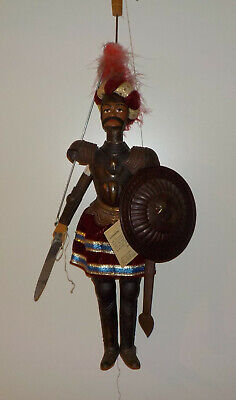 ++ Stab - Marionette Ritter /  Italien Scalisi aus Holz / Palermo  ++Hhj