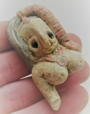 Ancient Indus Valley Harappan Terracotta Fertility Idol Fragment Circa 2000Bce