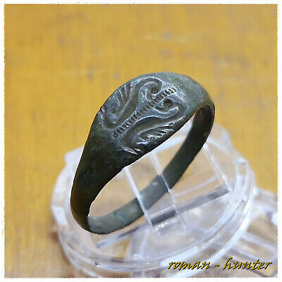 """ TWO SWANS "" RARE Ancient Bronze Roman Ring. 2,73g"