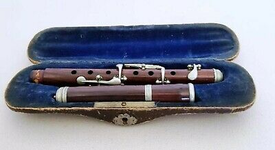 "Antique ""Nach H.F. Meyer Style"" Wooden German Flute/Piccolo"