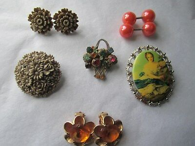 Jewellery various - earrings  and. broaches